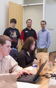 Participants in the Raytheon cybersecurity competition