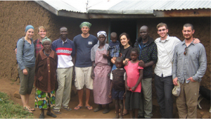 Members of the Oregon State University chapter of Engineers Without Borders in Lela, Kenya