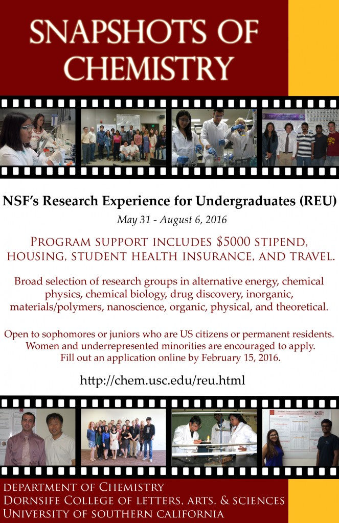 USC Chem REU flyer 2016
