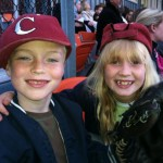 Anders and Mackenzie at the Corvallis Knights game on fireworks night.