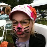 Crazy Nora Kitty at Da Vinci Days. They had a self-service face painting booth and I did my best with her requests.