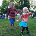 Nora and Anders cut a rug at the big band performance in Central Park.