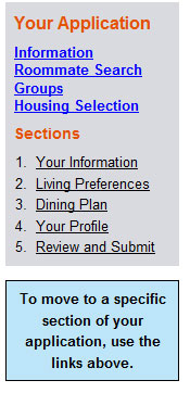 Housing Selection Link