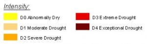 Drought map intensity key