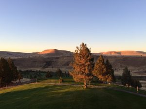 Sunrise over the peaceful landscape at Kah-Nee-Ta Resort.