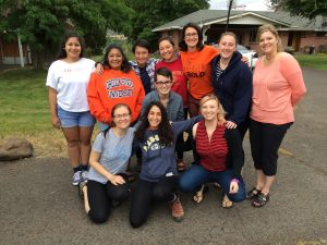 June 2016 Alternative Break program participants at Warm Springs, Oregon.