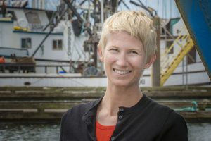 Amanda Gladics, Oregon Sea Grant's Extension fisheries management specialist in Astoria, Oregon.