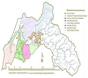 Coos Bay Watershed assessment areas