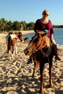 On horseback in Fiji.