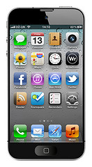 Apple iPhone 5 mock-up by DavidMartynHunt