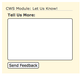 CWS Let Us Know Module
