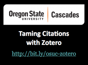 Zotero Workshop Slides
