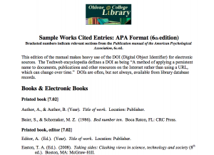 works cited apa format example