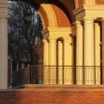 Columns and archway at Weatherford Hall