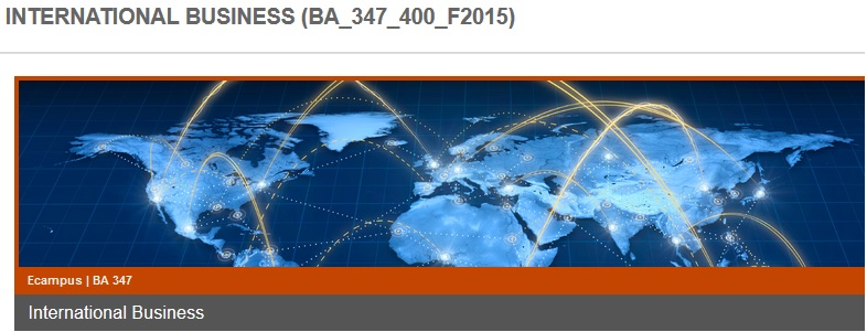 BA 347 International Business