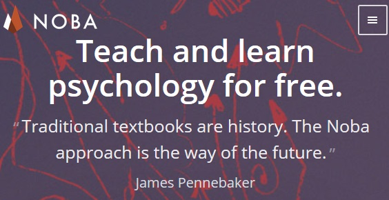 noba: teach and learn Pscychology for free