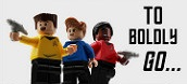 To boldly go. Toys from Star Trek.