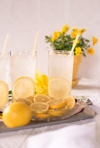 two glasses of lemonade