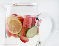 Fruit water glass
