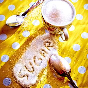 sugar spelled in spilt sugar