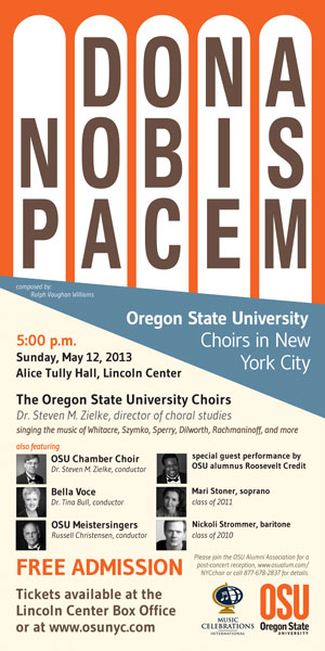 OSU Choirs New York Tour Poster