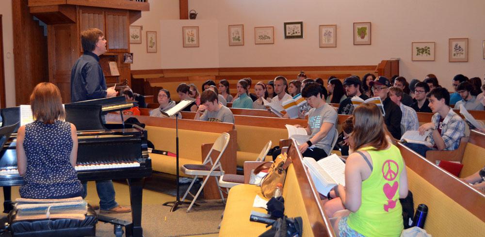 choir rehearsal for NY