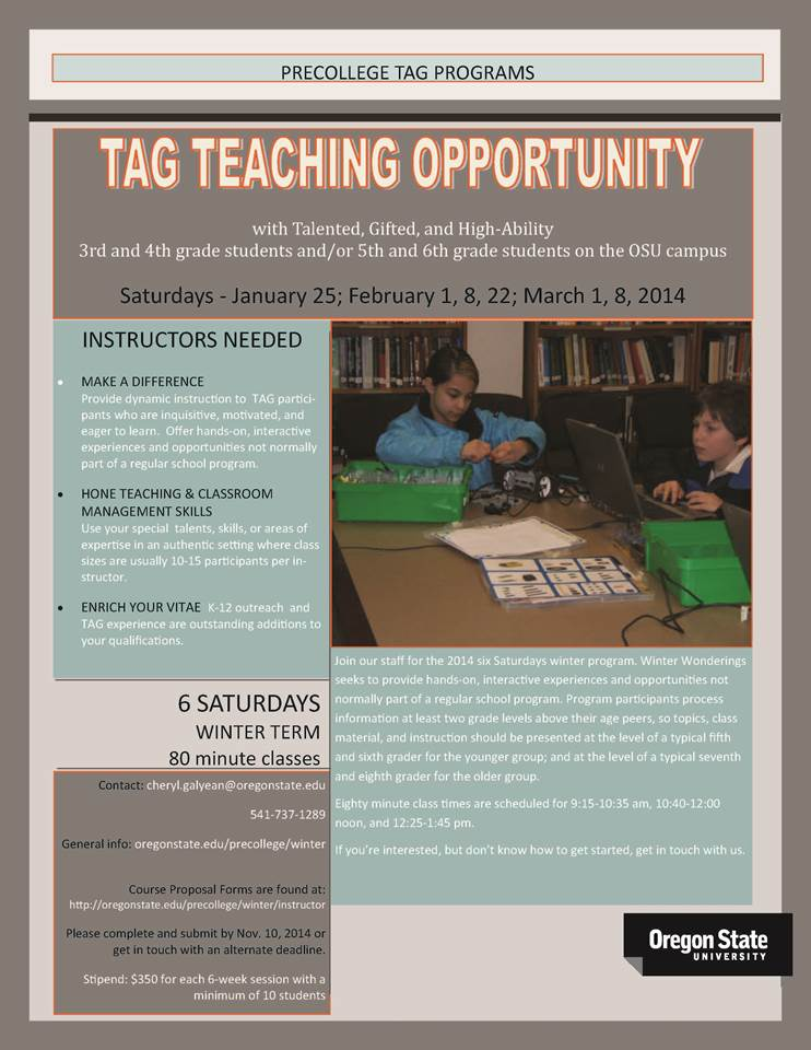 TAGteachingopportunity