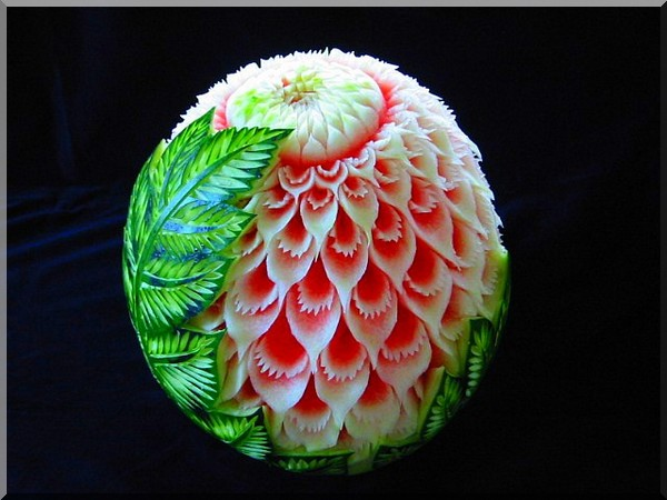 Fruit carving inspiration fun stuff happening at the