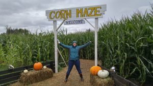sarah in the corn maze