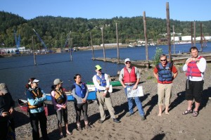 OHSU Students getting ready to paddle.