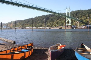 St. John's Bridge canoes