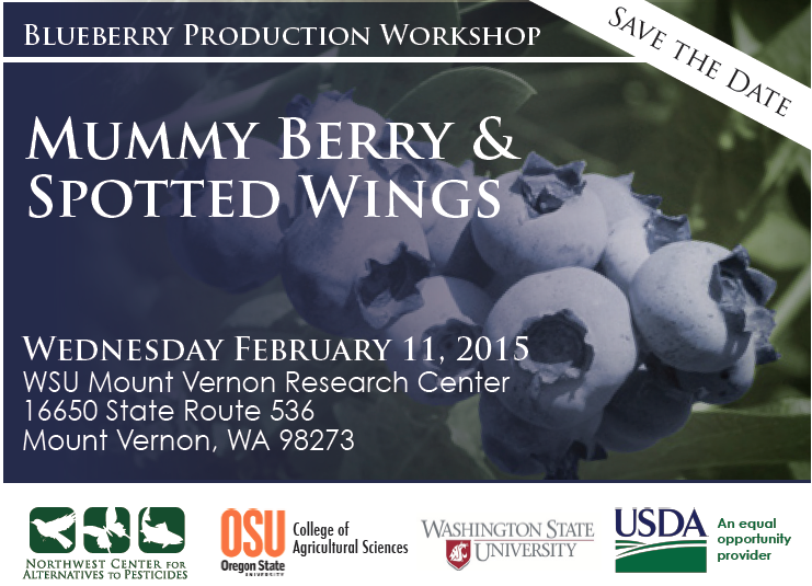 In early 2015, a blueberry workshop will be held for Washington growers!