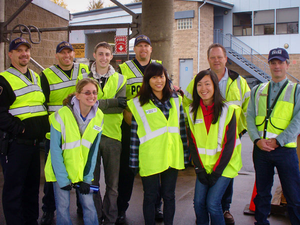 Sea Grant Scholars with Corvallis police and public works employees
