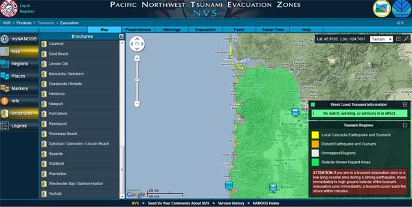 Breaking Waves Interactive tsunami inundation maps online