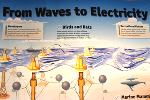Sea Grant wave energy exhibit at HMSC Visitor Center