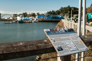 Newport dock interpretive signs