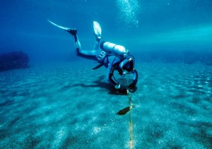 Diver in Crater Lake (US Parks Service photo)