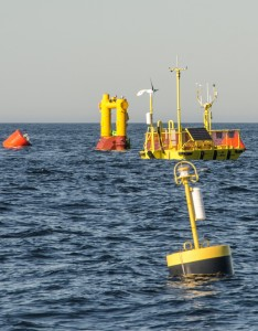 NNMREC Newport test site and buoys