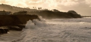High surf at Fishing Rock