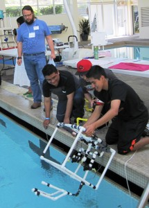 Taft High School ROV team  launches Ocean's Hope at 2013 competition