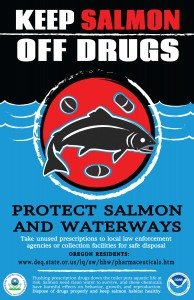 Keep Salmon Off Drugs poster