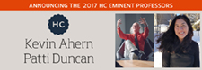 Kevin Ahern and Patti Duncan named 2017 Honors College Eminent Professors