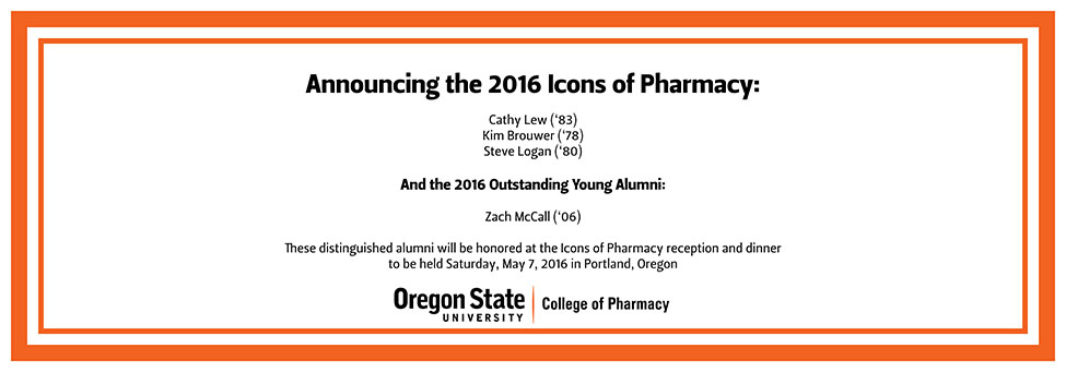 2016 Icons of Pharmacy Announced
