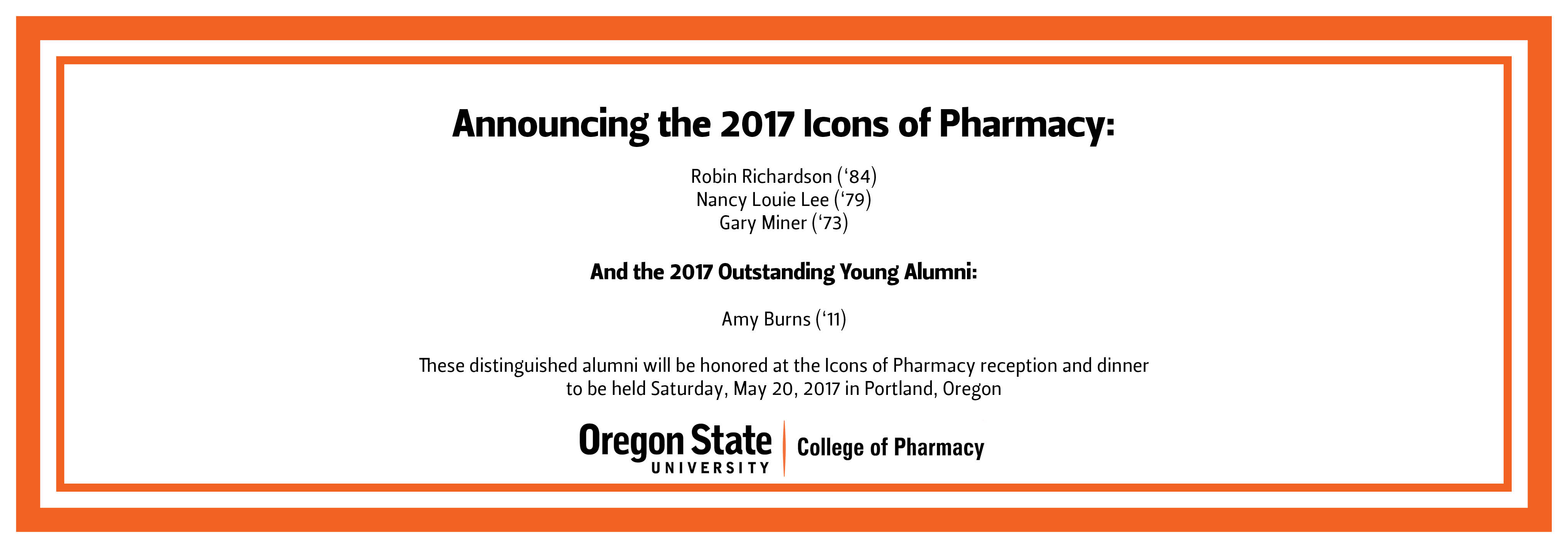 2017 Icons of Pharmacy Announced