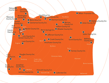 Extension offices map Oregon State University
