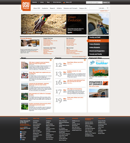 Oregon State University homepage