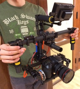 The finished gimbal during its debut shoot
