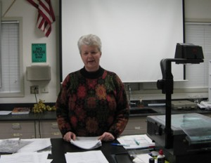 Linda Barry in her chemistry classroom at Skyview High School in Vancouver, WA.