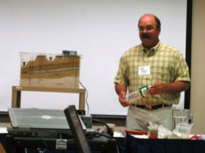 Dr. Todd Jarvis with his groundwater model teaching at the Water Quality Summer Institute in 2005.