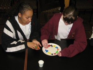 Students immersed in the Chemical Conundrum activity.